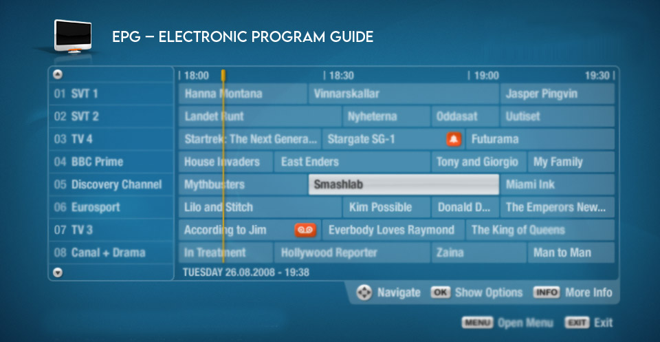 EPG – Electronic program guide